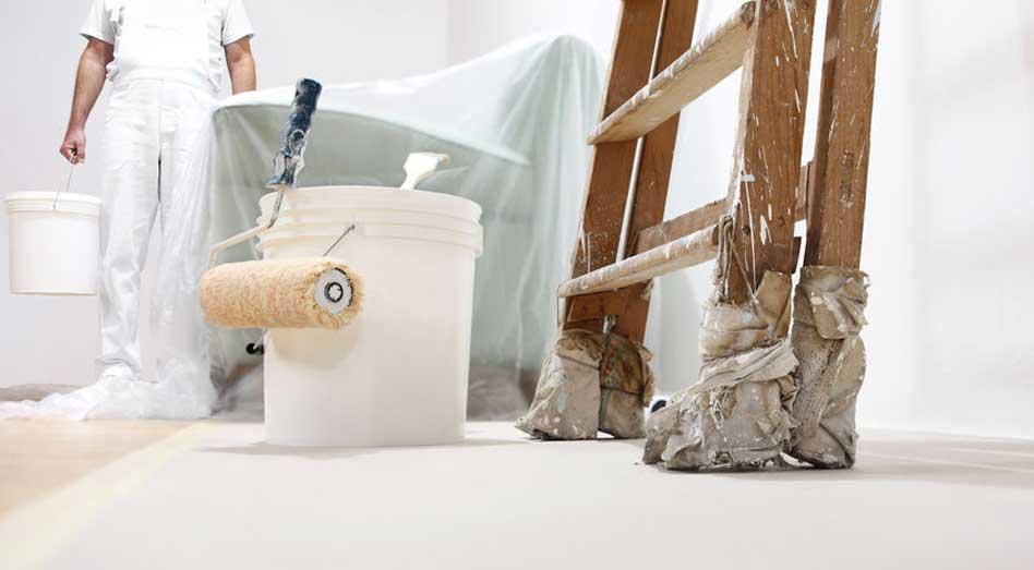 mod aplicare vopsea lavabila pe tavan