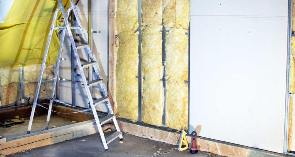 izolare termica la interior si placare perete cu gips carton
