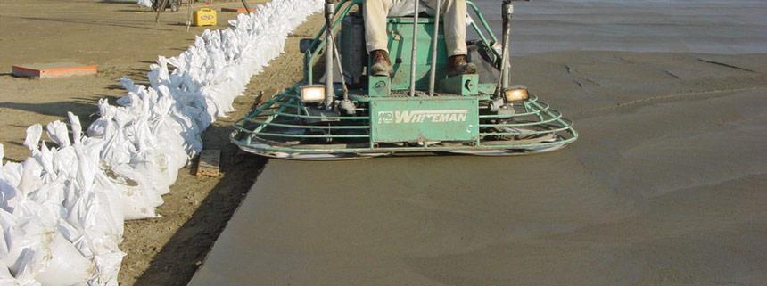 sclivisire suprafata beton folosind elicopter dublu