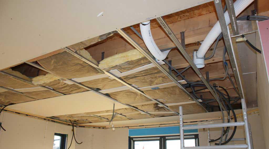 montaj tavan suspendat din gips carton