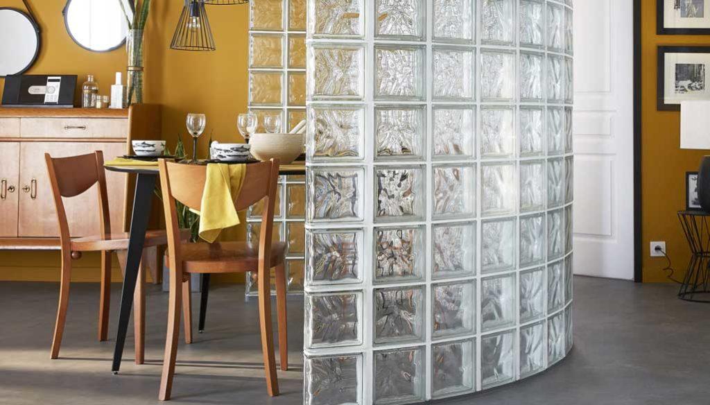 perete separator din caramida de sticla