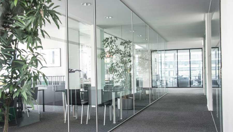 pereti din sticla pentru cladiri de birouri