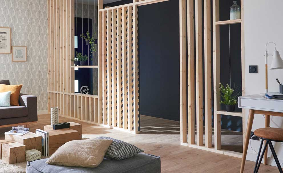 perete despartitor si fals din lemn