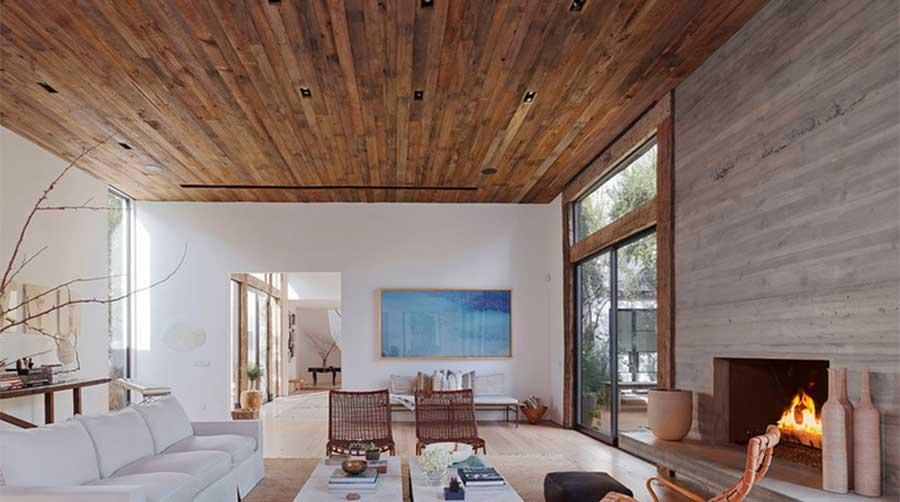 plafon lambriu din lemn