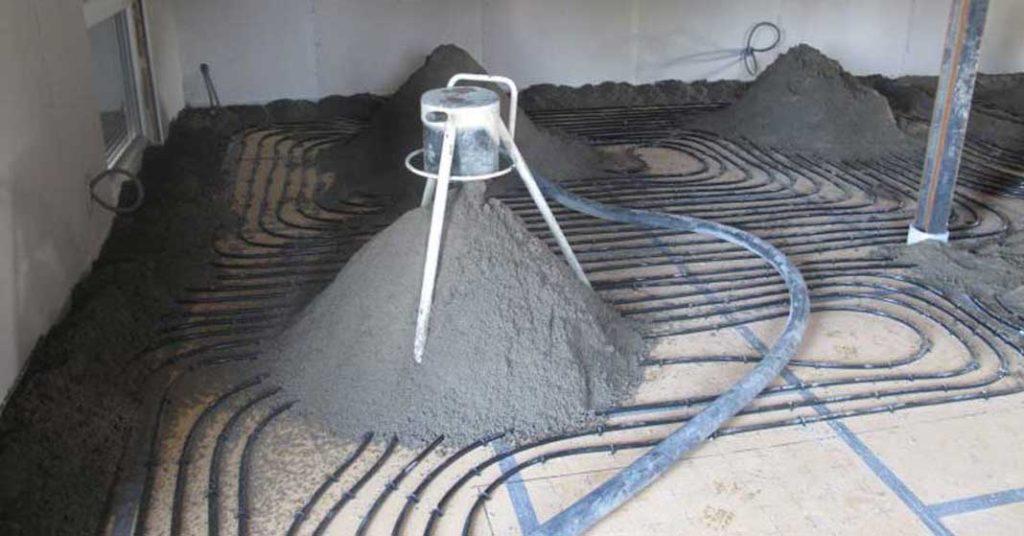 sapa semiumeda din mortar executata mecanizat