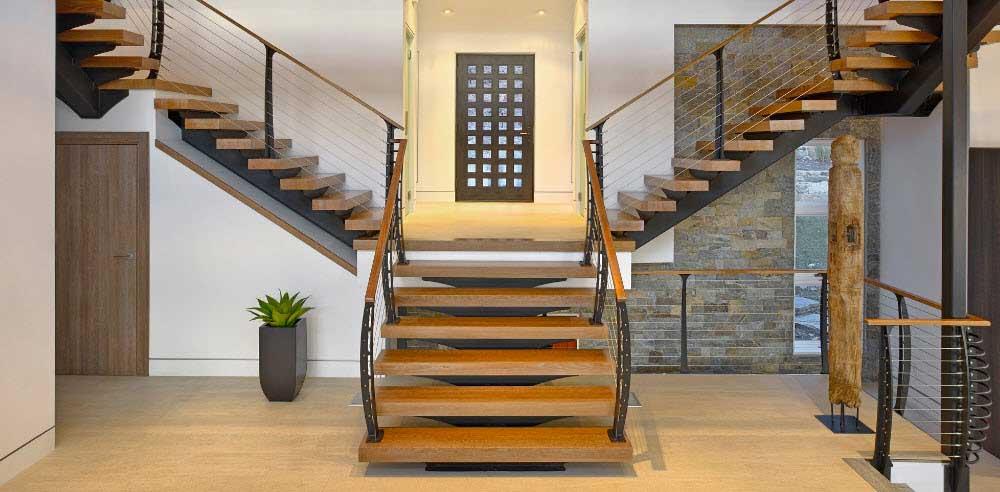 scari interioare din lemn si metal