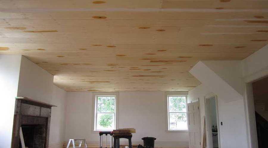 tavan fals din lemn