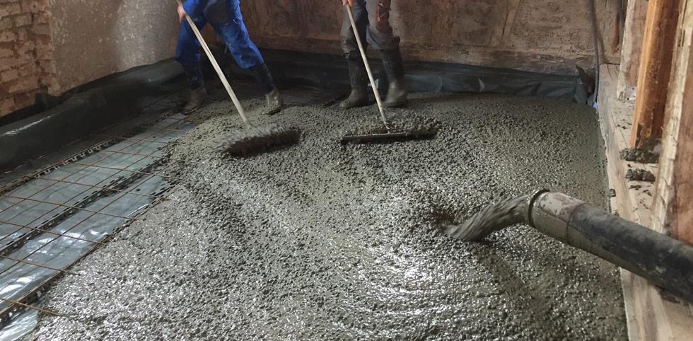 turnare sapa din beton cu pompa