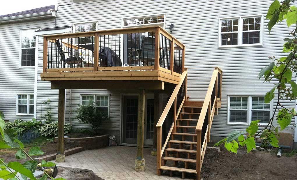scara lemn pentru exterior casa