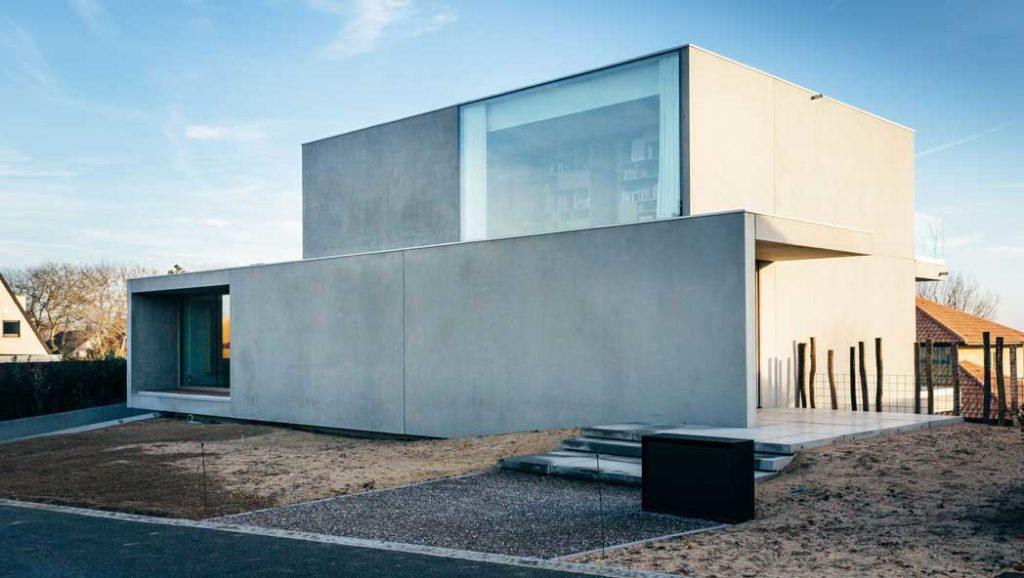 casa din beton aparent