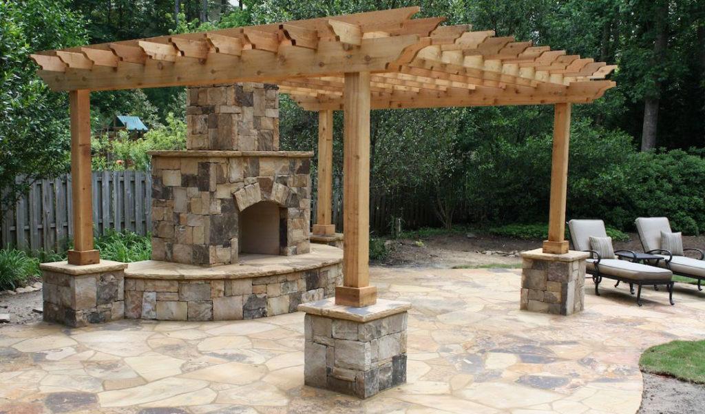 design pergola din lemn pentru terasa