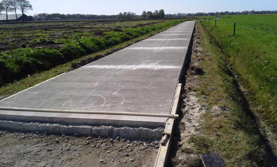 drum cu beton rutier