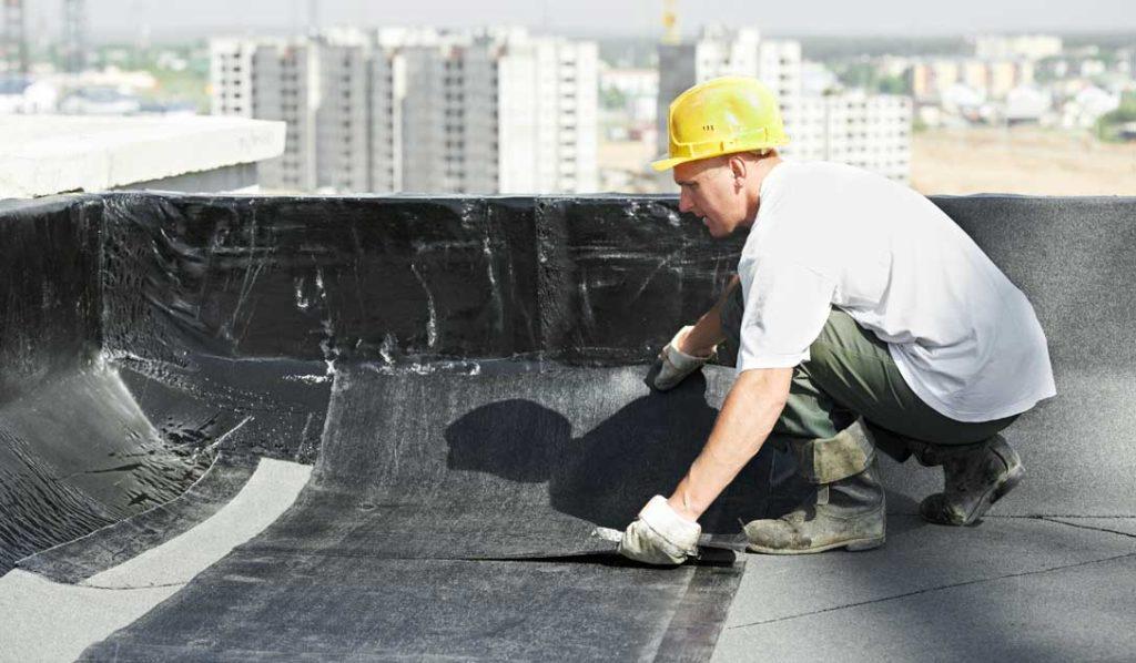 montaj hidroizolatii acoperis bloc sau hale