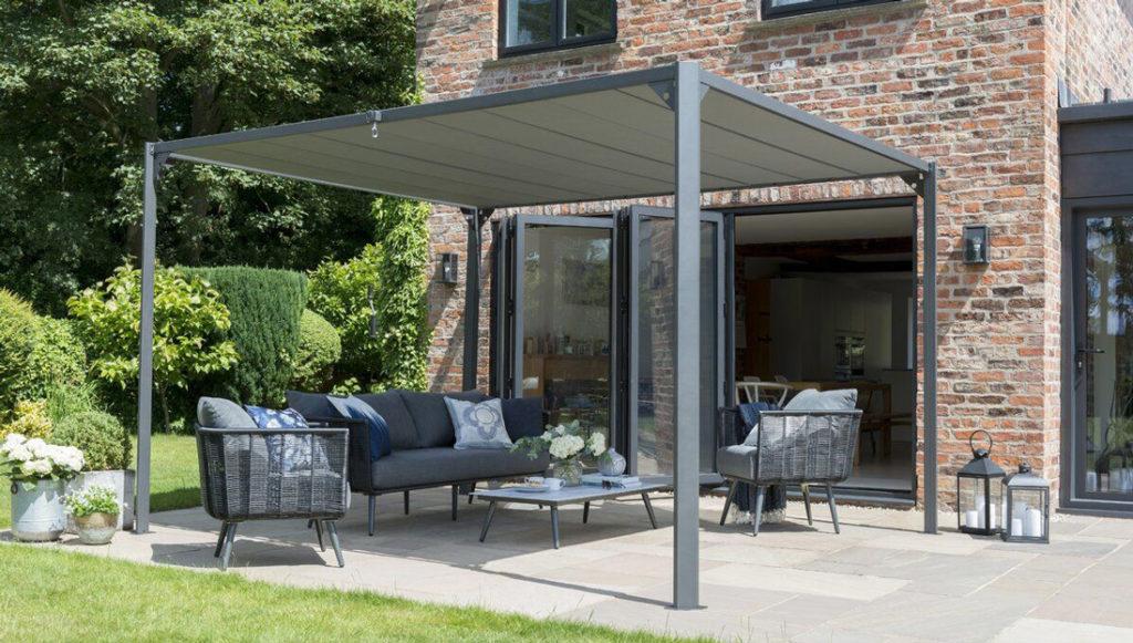 pergola din metal pentru terasa