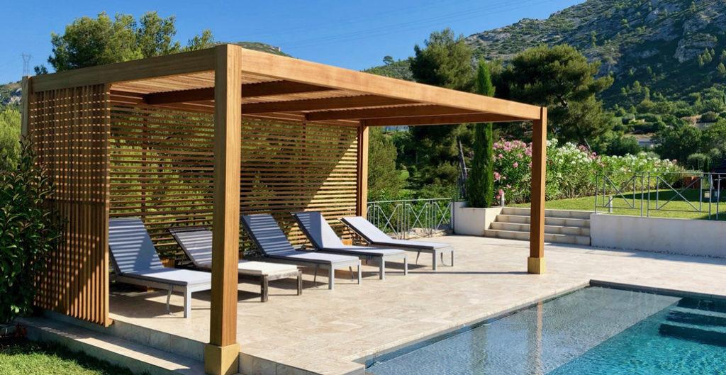 pergola din lemn pentru piscina