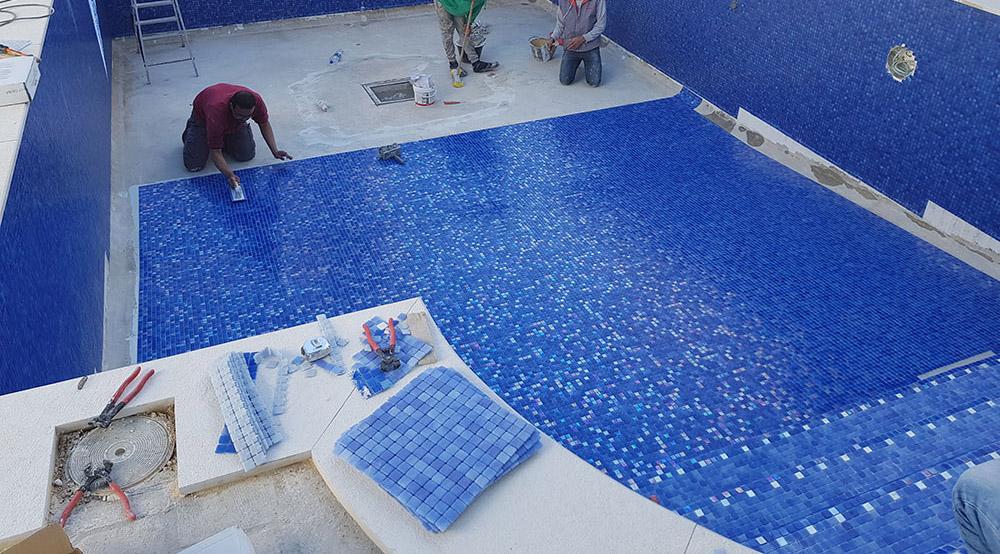 hidroizolare si aplicare placi mozaicate