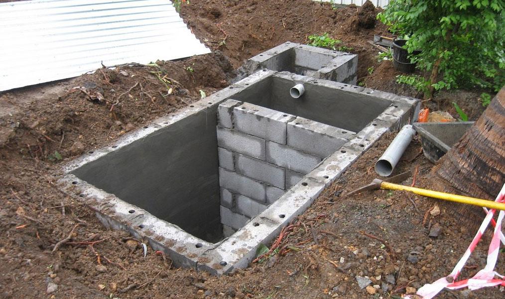 constructie fosa septica din boltari si mortar