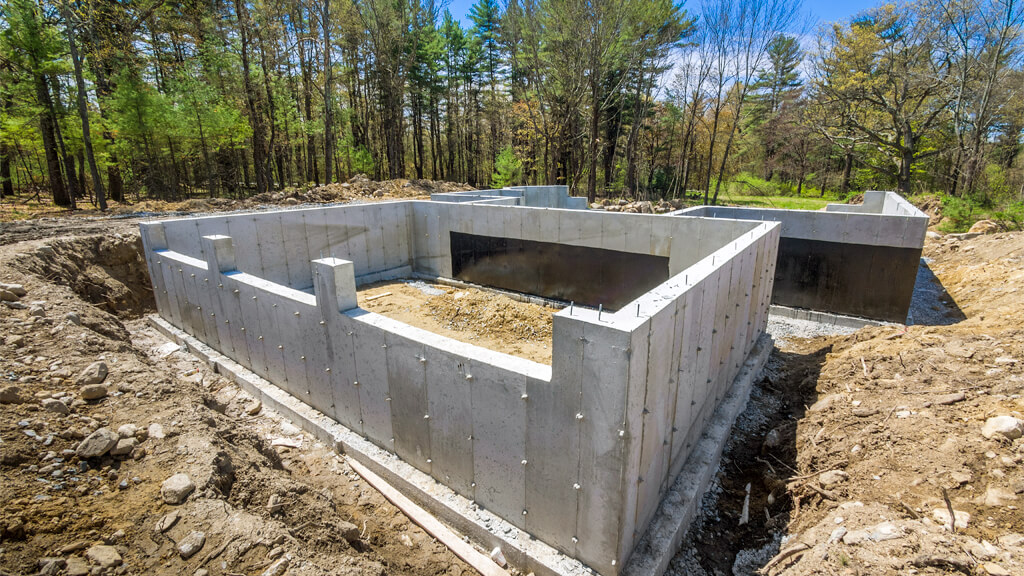 construire fundatie din beton pentru casa