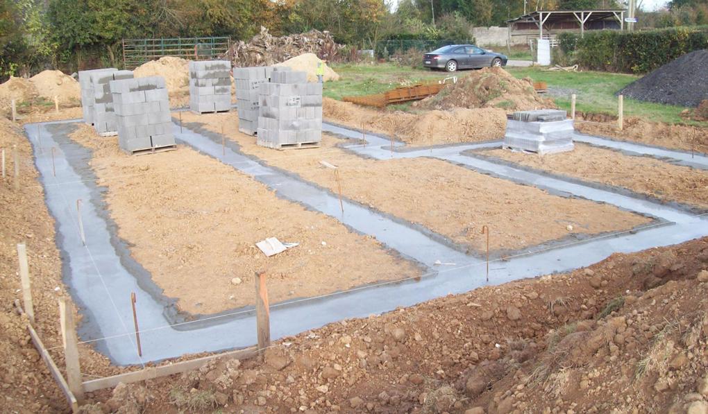 construire fundatie superficiala pentru casa