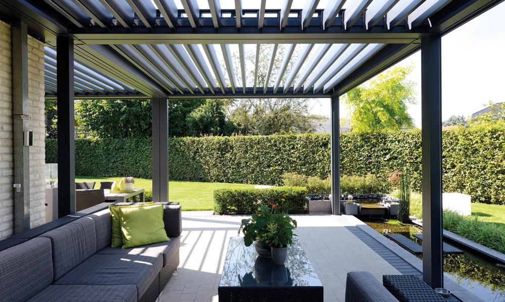 pergola bioclimatica casa