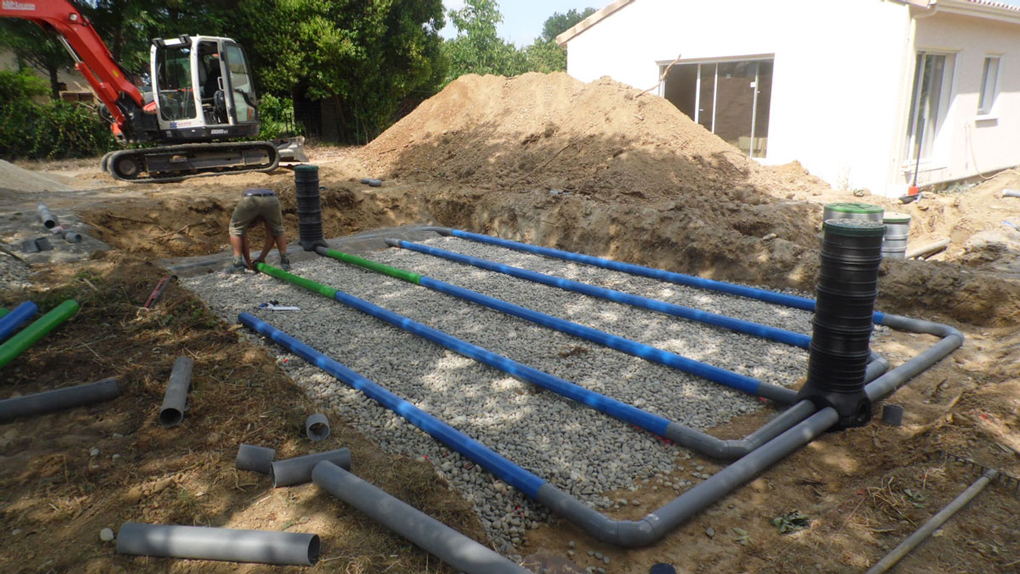 sistem drenaj pentru constructia fosei septice