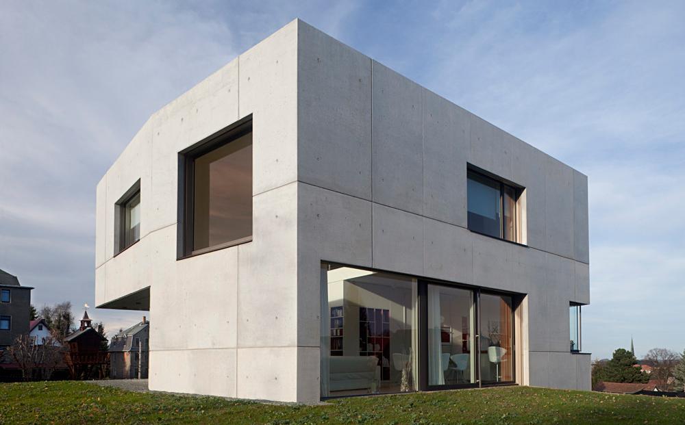 zidarie casa din beton aparent