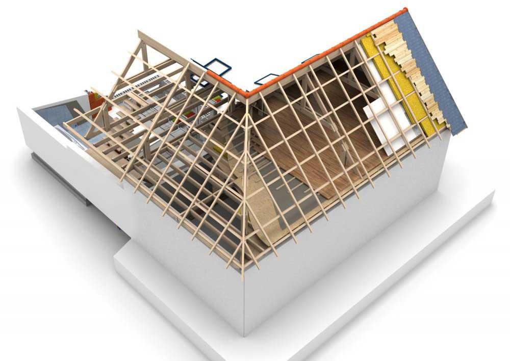 acoperis casa in forma de L