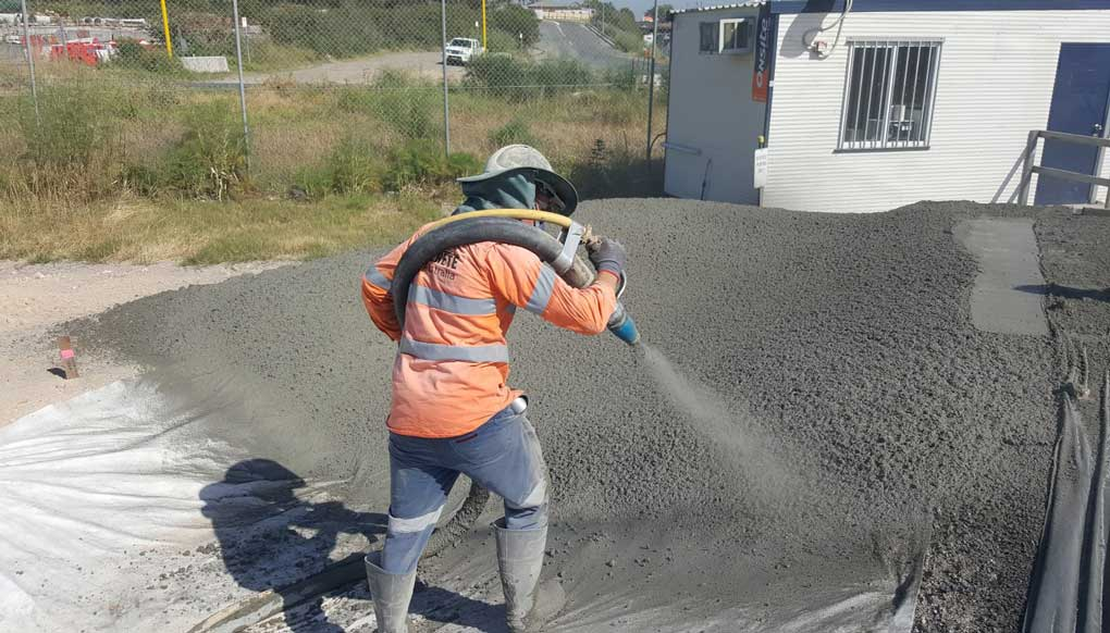 aplicare beton torcretat