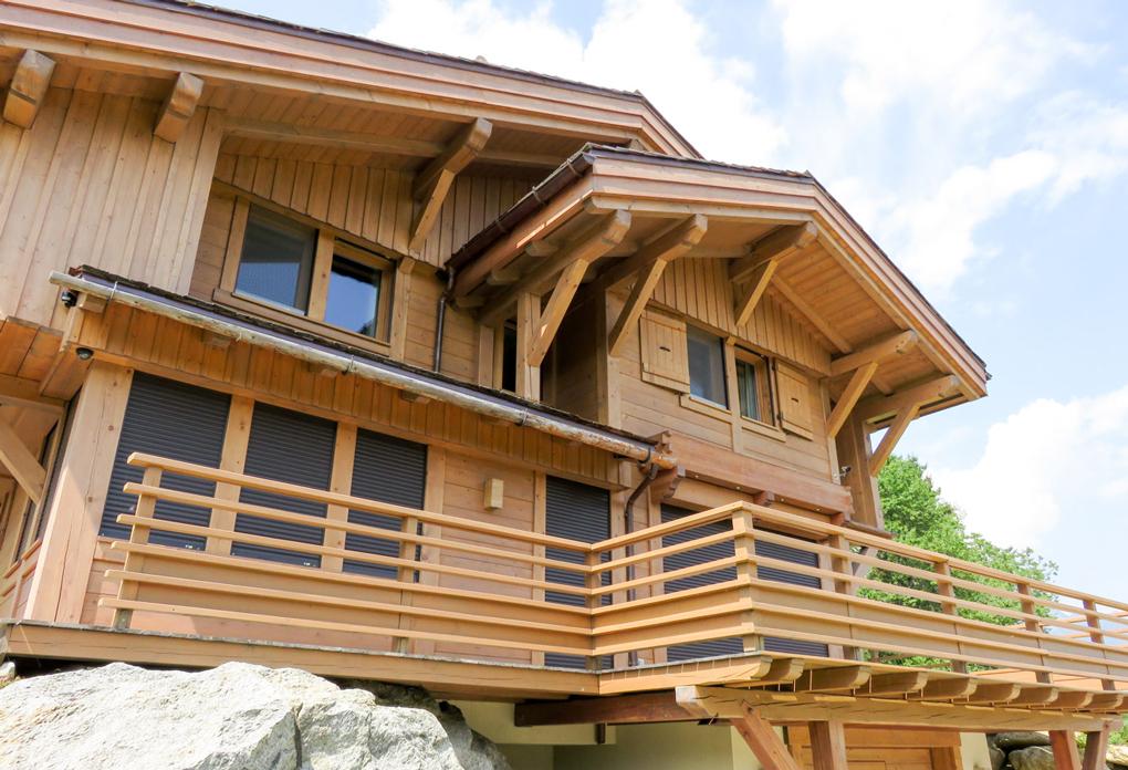 balcon cabana lemn