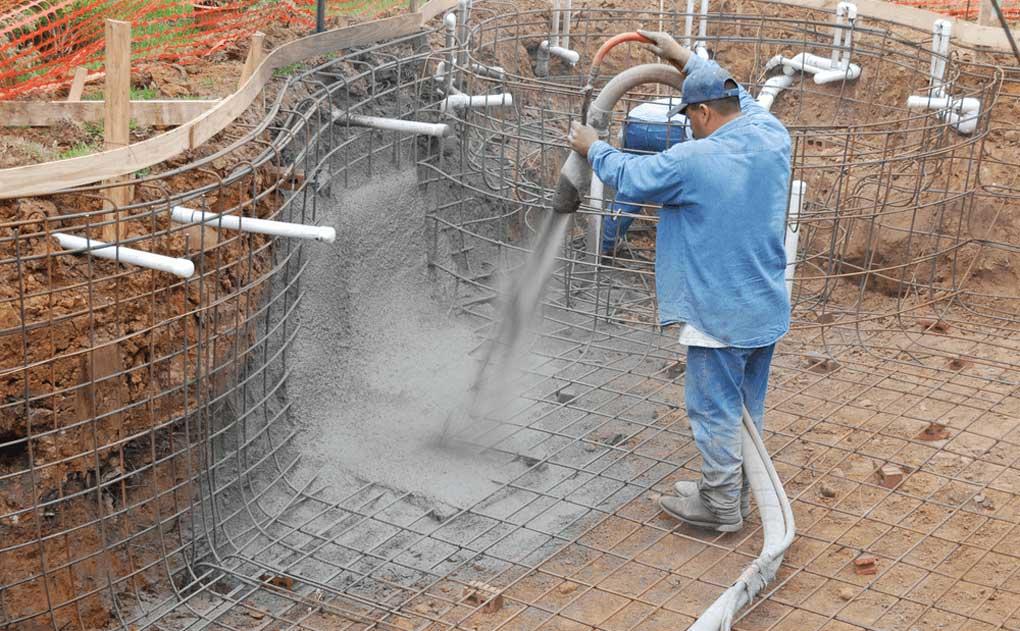 beton torcretat pentru piscina