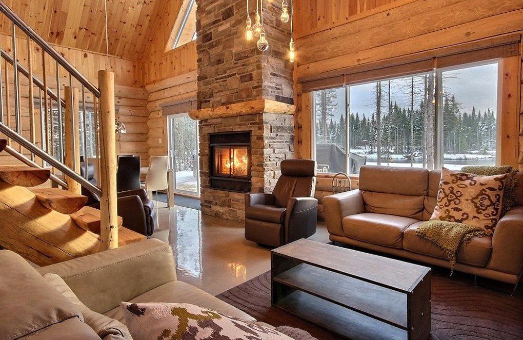 interior cabana din lemn