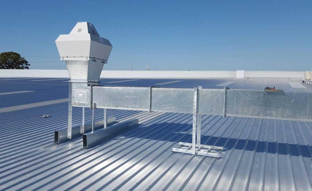 sistem industrial de ventilatie
