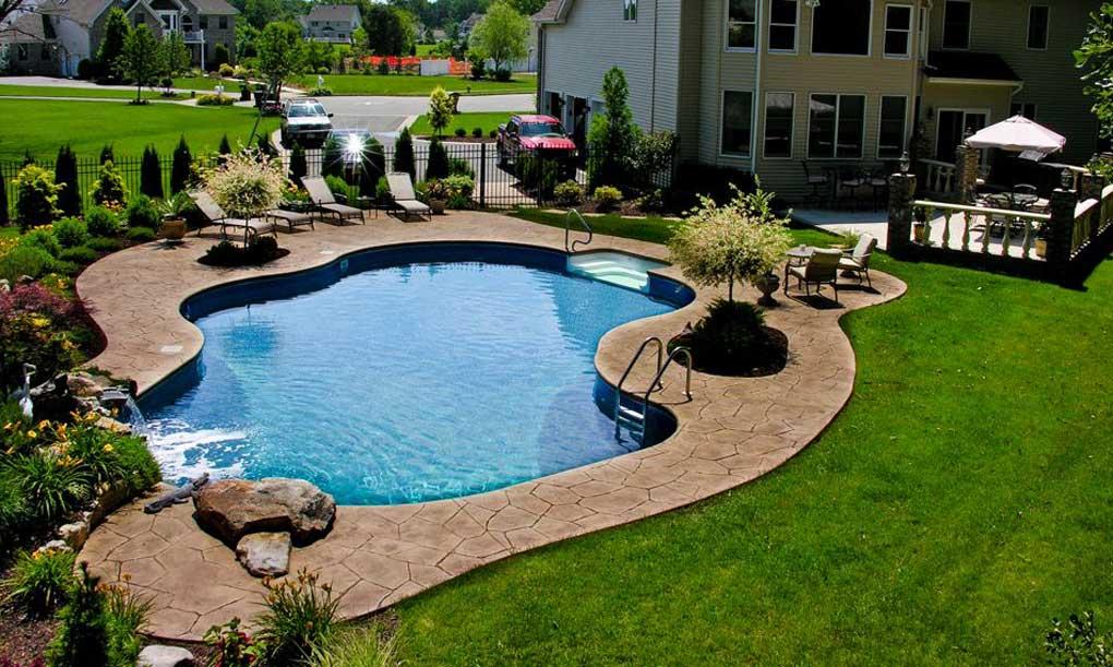 piscina ingropata din beton