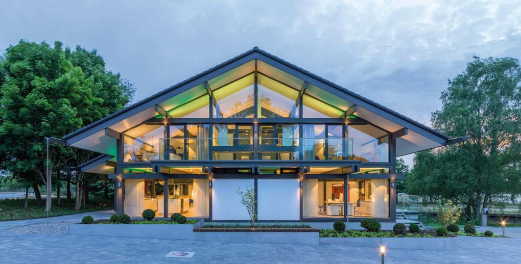 Fatada casa din sticla
