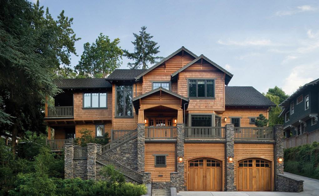 Fatade case din lemn
